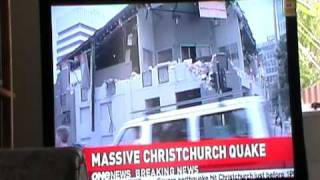 22 Feb Christchurch Quake TV1 News Report Part 1/2