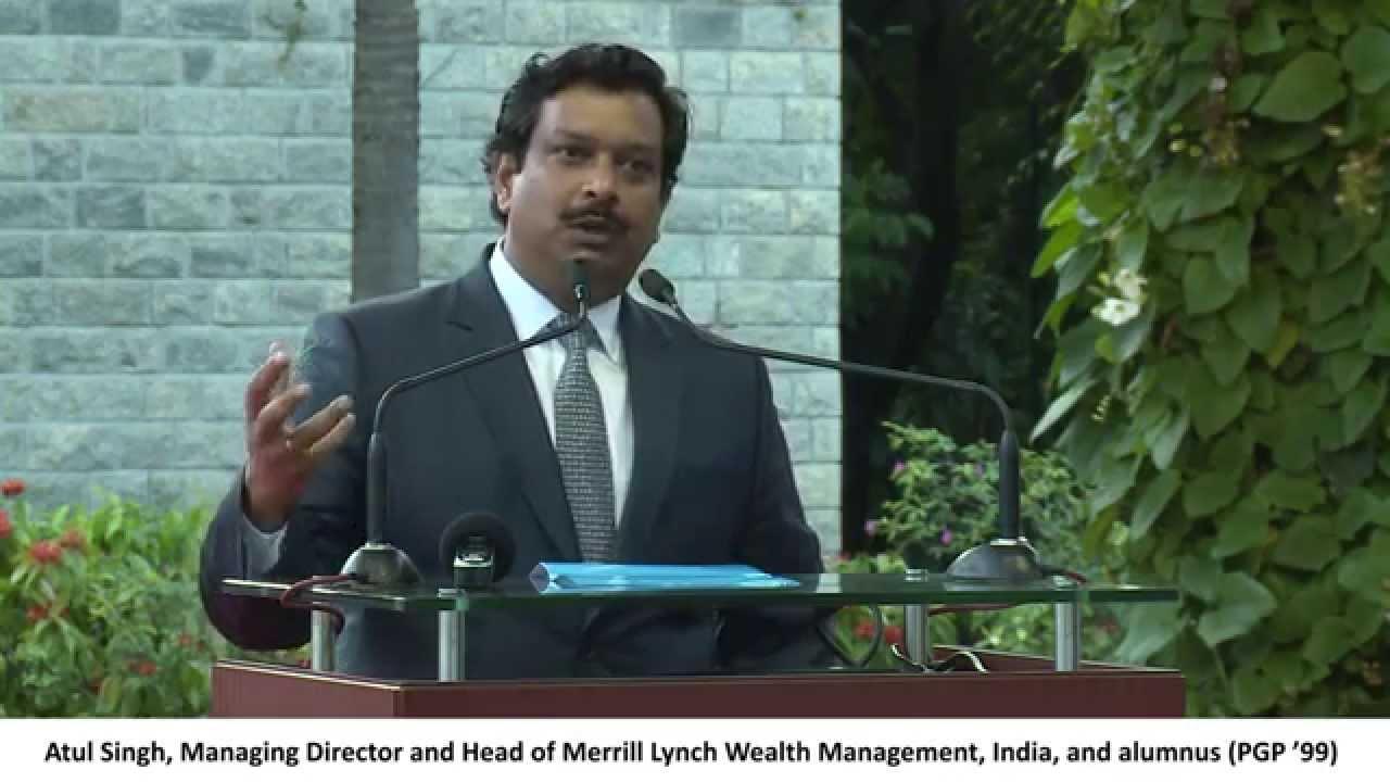 atul singh md merrill lynch wealth management speaks to students atul singh md merrill lynch wealth management speaks to students at iimb