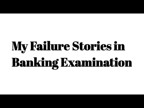 My Failure Story in Banking Examination | Banking Vision