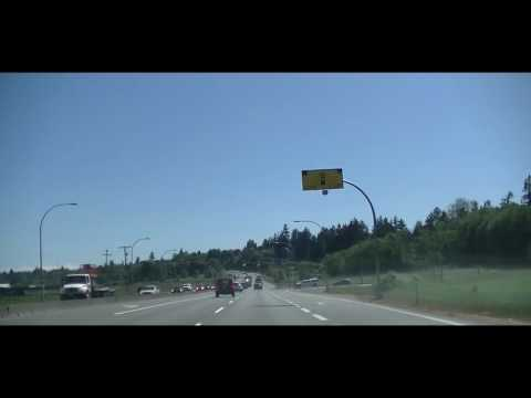 Driving from Swartz Bay Ferry Terminal to Victoria BC Canada - Tour of Vancouver Island South