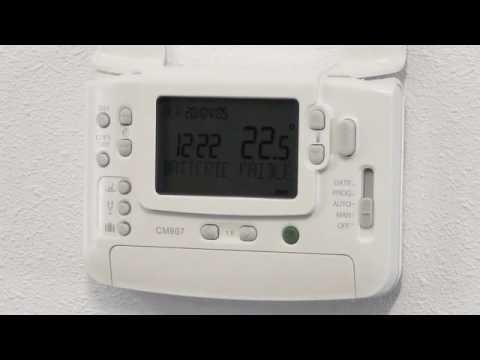 Remplacer Les Piles Du Thermostat Cmt901 Cmt907 Honeywell Home