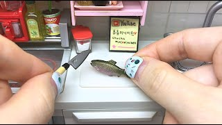 Re-Ment Cooking,Salmon Steak/miniature 식완 연어스테이크 リーメント スライス サーモン ステーキ