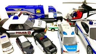 Policja ♦ Przedstawiam moją kolekcję pojazdów policyjnych ♦ Dla dzieci PO POLSKU