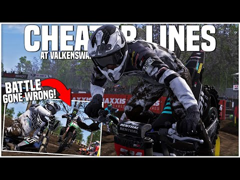 Showing off the CHEATER LINES at VALKENSWAARD! - MXGP 2020 - MX2 Career Mode Round 2
