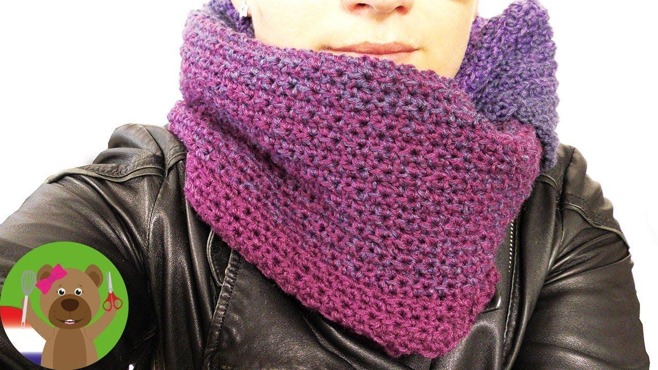 Driehoekige Sjaal Zelf Haken Supermooie Sjaal Voor De Winter