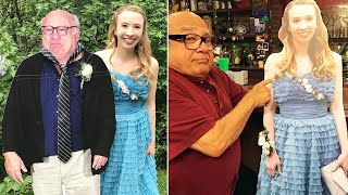 Danny DeVito Poses With Cutout of Teen Who Took Cutout of Him to Prom
