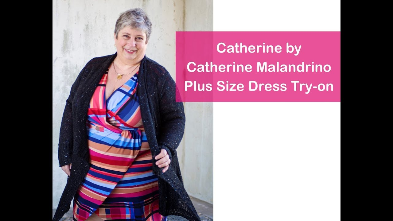Catherine Malandrino Plus Size Dress Try-on