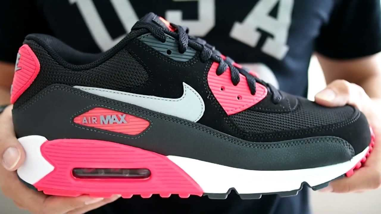 huge selection of 38639 853ea Nike Air Max 90 Essential 537384 120 White Pink Black Grey Leather