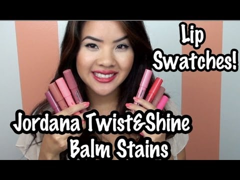New jordana twist and shine lip swatches reveiw all colors