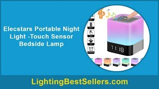 elecstars portable night light touch sensor bedsi