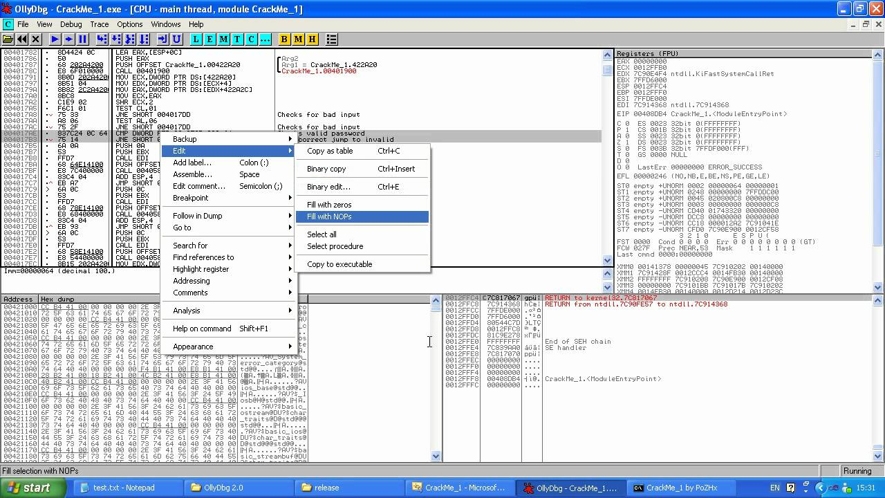 Reverse Engineering CrackMe Tutorial 1