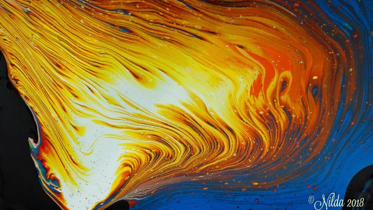 Blaze Fluid Acrylics Pouring Tree Ring Pour No Silicone
