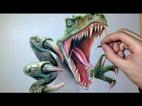Epic speed drawing t rex jurassic youtube - Dessiner dinosaure ...