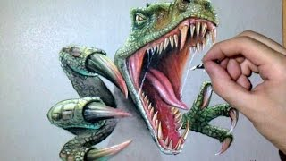Epic Speed Drawing: T-Rex Jurassic