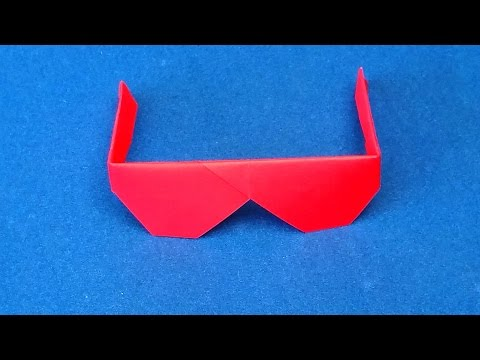 Origami Sunglasses.  How To Make Traditional Origami Sunglasses