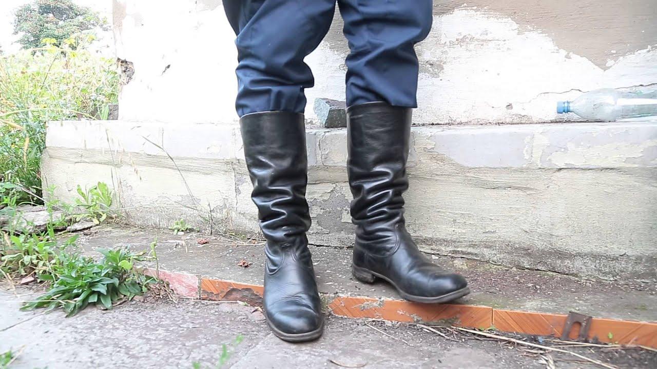 Walking In Soviet Officer Chrome Boots Youtube