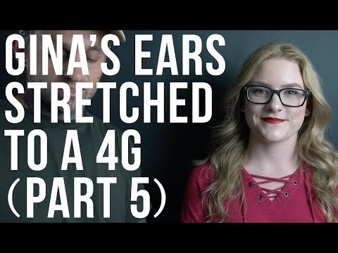 Watch Gina Get Her Ears Stretched to a 4G (Part 5) | UrbanBodyJewelry.com