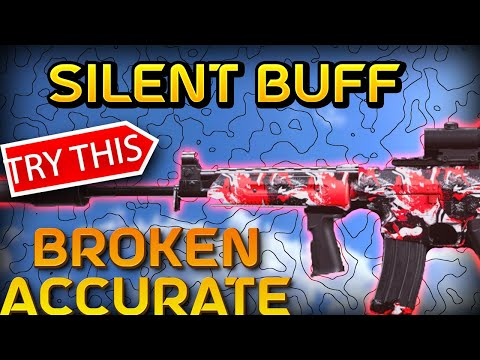 *NEW* Silent BUFF KRIG 6 Cold War gun in WARZONE IS OP ACCURATE