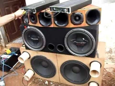 2 Pioneer 309 + B. Buster 3600GL (testando musicalidade) - YouTube