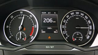 New Skoda Superb 2015 2,0 TDI 190 PS - acceleration 0-200 km/h