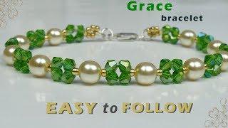 Super Easy Beaded Bracelet tutorial