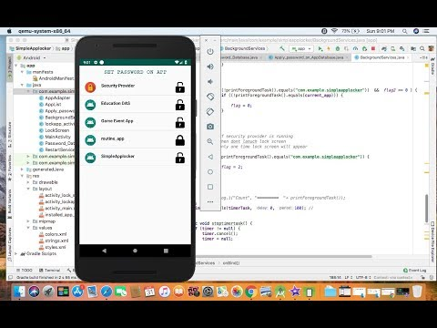 How To Make App Locker In Android Studio Oreo
