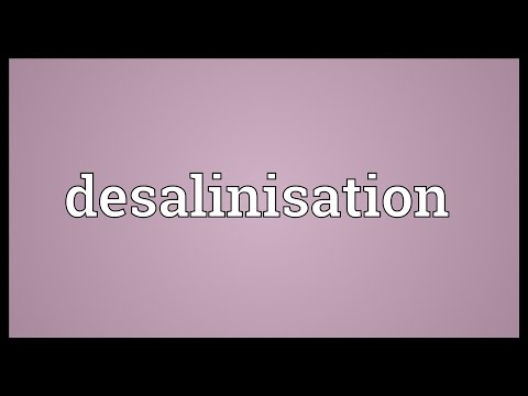 Desalinisation Meaning