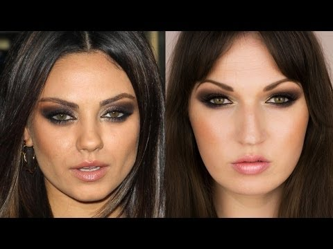 MILA KUNIS Makeup Tutorial | Intense Brown Smokey Eyes ...