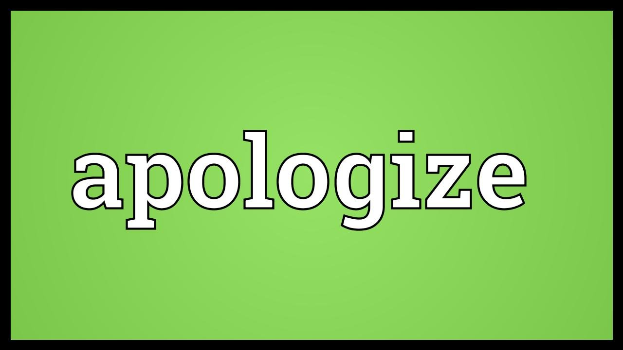 Apologize Meaning