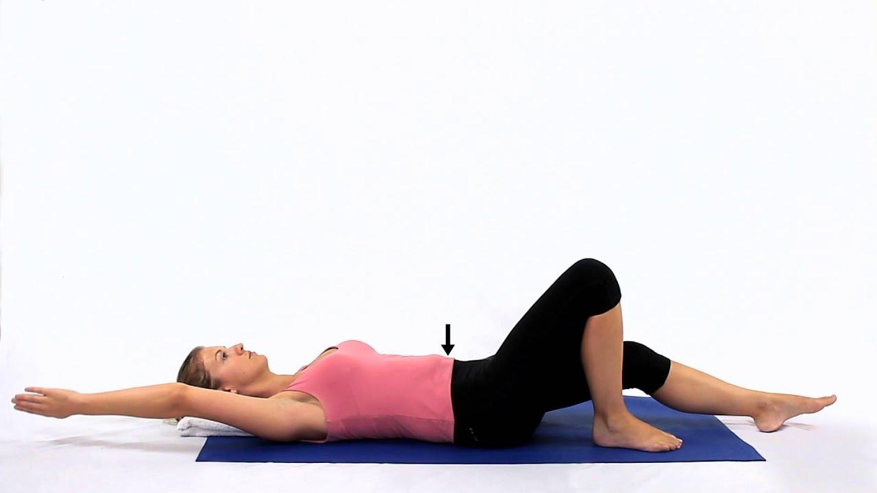 Pilates Single leg slide with arm raise