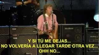 Paul McCartney- Ive Got A Feeling (Zocalo,Mex) Subtitulada Español