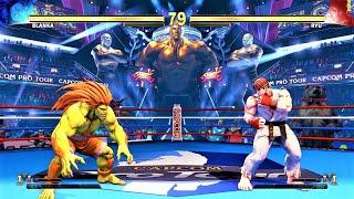 Blanka vs Ryu (Hardest AI) - STREET FIGHTER V