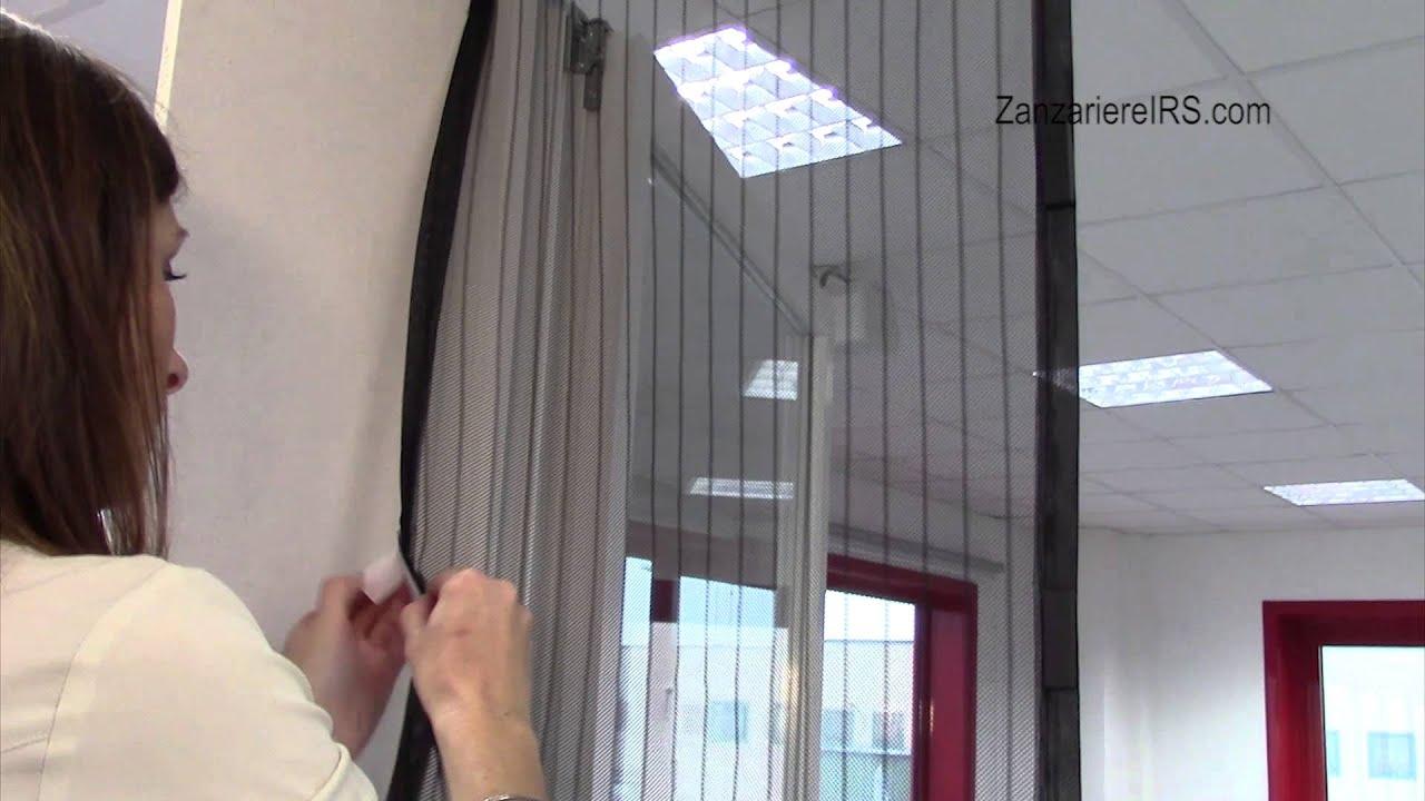 Zanzariera magnetica a strisce per porta ecco strip for Zanzariere per finestre ikea