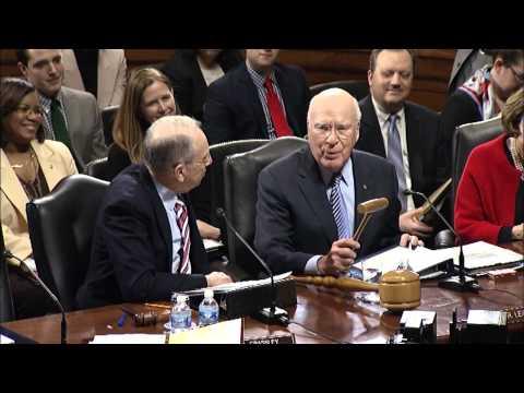 Senator Leahy Passes The Gavel To New Senate Judiciary Committee Chair Chuck Grassley