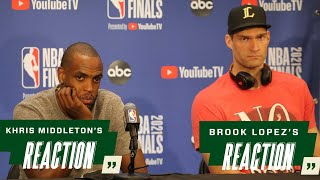 Khris Middleton and Brook Lopez Game 1 NBA Finals Media Availability