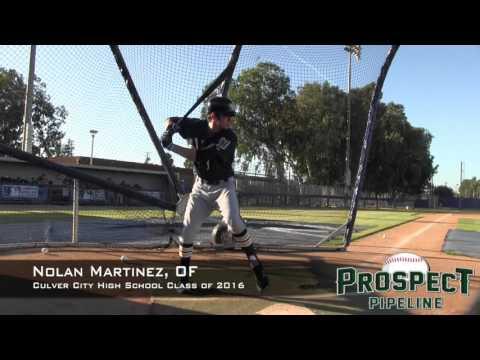 Nolan Martinez Prospect Video, OF, Culver City High School Class of 2016