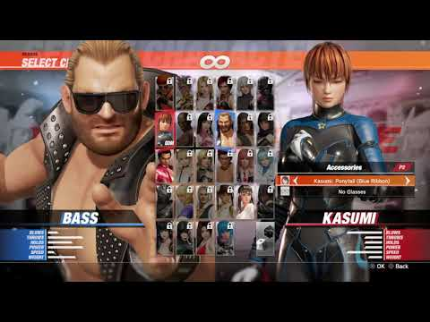 Dead Or Alive 6 - Bass Vs Kasumi | PS4 Commentary Gameplay