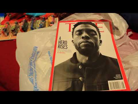 Black Panther on the cover of Time Magazine - super short magazine