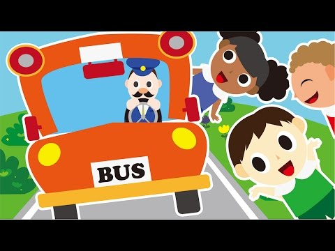 Wheels On The Bus Go Round And Round HD | Children Nursery Rhyme | Kids Songs | Baby Puff Puff