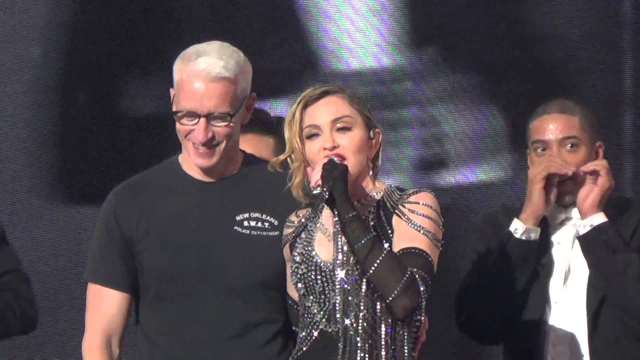 madonna - unapologetic bitch - with anderson cooper! (9/19/15) - youtube