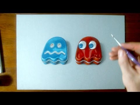 Pac-Man Ghosts Speed Drawing