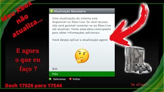 Como atualizar para Dash 17544 ou não atualizar e continuar Online no Xbox