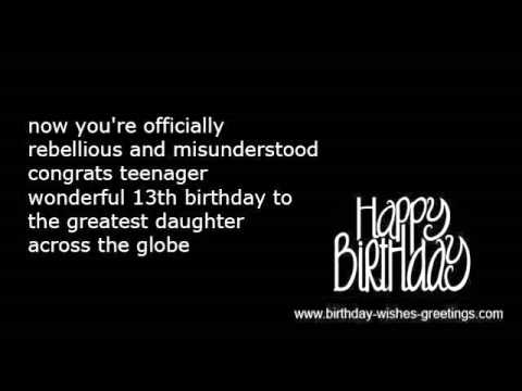 13th birthday wishes messages and funny greeting YouTube – 13th Birthday Greetings