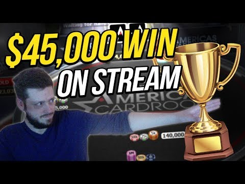 $45,000 Win On USA Friendly Poker Site?!