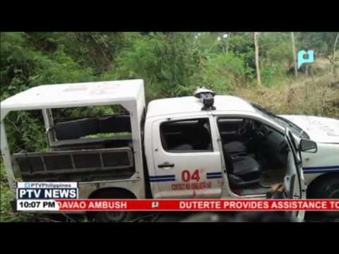 4 policemen killed in an ambush by suspected NPA members