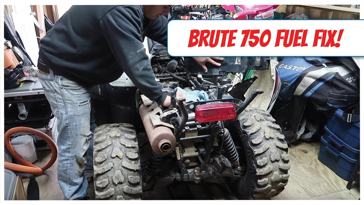 hight resolution of brute force 750 fuel filter strainer replacement loss of power fixed