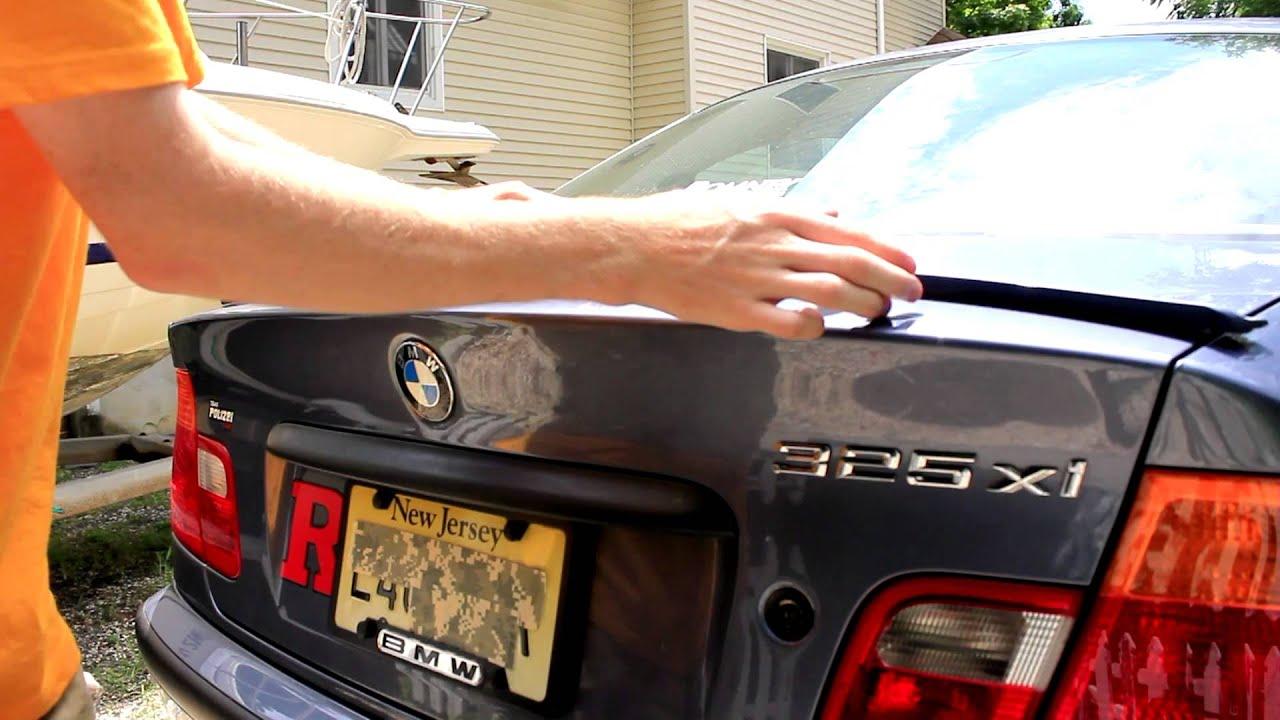 Спойлер на авто - своими руками 2015 - YouTube