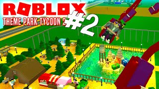 😅 THE BEAUTIFUL LAKE! -Roblox Theme Park Tycoon 2 English Ep 2 with ComKean
