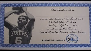"""RARE """"Dr. J"""" Julius Erving Tribute Video  (from VHS given away at his last home game on 4/17/87)"""
