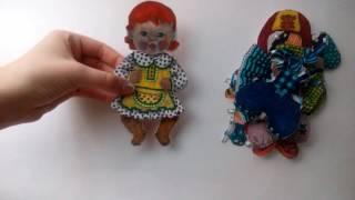 Моя одежда для бумажной куколки Ляли 1 годик